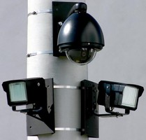 PTZ Dome Camera works in daytime and nighttime conditions.