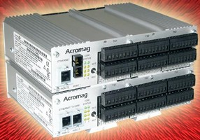Stackable Ethernet I/O Block processes 96 I/O signals.