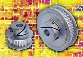 Timing Belt Pulleys feature integral hub fastening design.