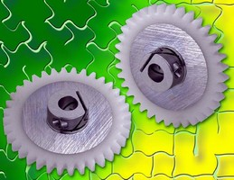 Aluminum-Acetal Gears come in 24-72 diametral pitches.