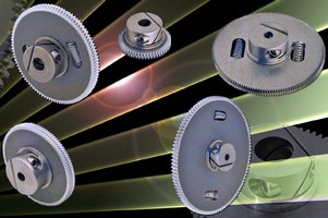 Anti-Backlash Gears use Fairloc® integral fastening system.