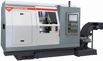 CNC Bar Turning Center features 10 axis capability.