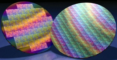 Wafers feature diamond on silicon construction.