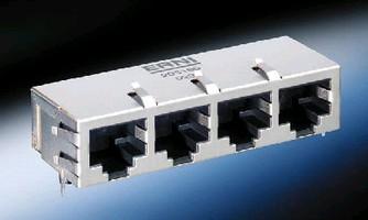 Modular Jacks feature integrated magnetics.