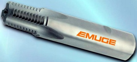 Solid Carbide Mills cut leak-free tapered threads in pipe.