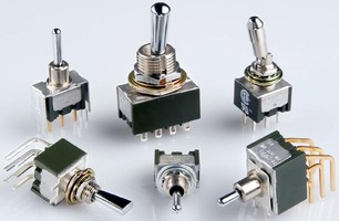 Miniature Toggle Switches are offered in many combinations.