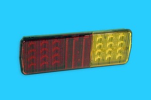 LED Lamp is stop, turn, and tail lamp with reflex reflector.