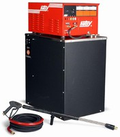Hot Water Pressure Washer features all-electric design.
