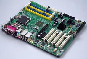 ATX Motherboard utilizes Intel® dual-core processors.