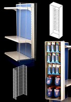 Merchandise Displays are offered in standard sizes.