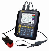 Portable Oscilloscope features 8 onscreen traces.