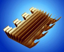 Heat Sink cools BGA components in low airflow conditions.