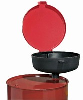 Polyethylene Funnel offers large draining surface.