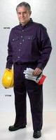 Clothing protects workers from arc flash hazards.