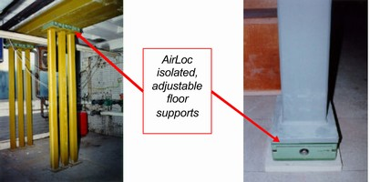 AirLoc Wedgmounts Provide Building Floor Load Support & Vibration Isolation