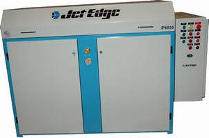 Pump powers waterjet cutting systems.