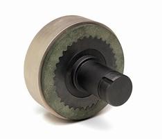 Lift Truck Brake eliminates need for bolt on friction rotor.
