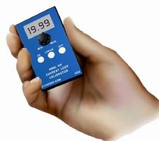Portable Calibrator provides 4-20 mA current loop signal.