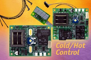 Electronic Controllers adjust heating, cooling, and humidity.