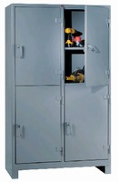 Storage Cabinets feature 14-gauge all-welded construction.