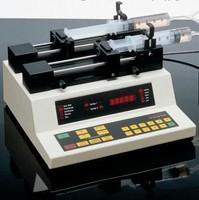 Syringe Pump features 2 pumping mechanisms.