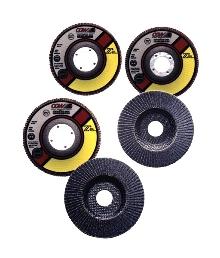Flap Discs work on metals, composites and wood.