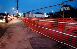 Plastic Reflective Fence withstands harsh environments.