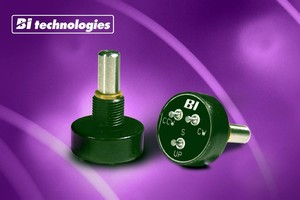 Potentiometers are suited for industrial control applications.