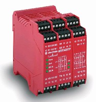Safety Relays feature modular, space-saving design.
