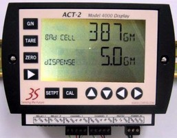 Digital Display relays readings from connected scales.