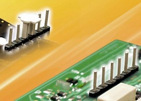 Surface-Mount Pin Header works with Pb-free reflow process.