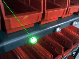 Laser System enables paperless picking.