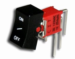 Rocker Switch features sub-miniature sealed design.