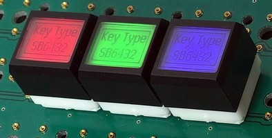 LCD Keyswitch offers over 10,000 calibrated RGB colors.