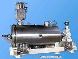 Cylindrical Vacuum Dryers suit chemical process industries.