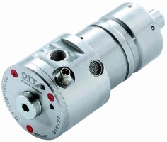 Rotary Union features integrated leakage sensor.