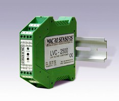 LVDT Signal Conditioner operates from 12 or 24 Vdc.