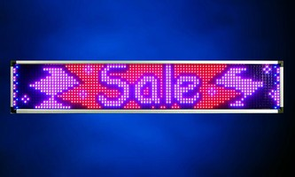 LED Banners are programmable and password protected.