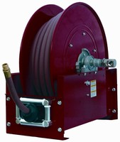 Large Frame Reel handles up to 100 ft of ¾ in. hose.