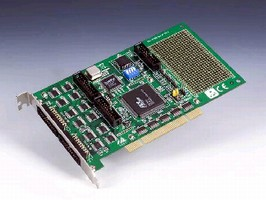 PCI Card provides 64 channels of digital I/O.