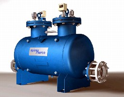 Condensate Pump incorporates dual pumping mechanisms.