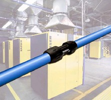 Air Distribution System uses modular aluminum piping.