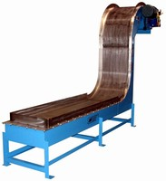 Magnetic Conveyors transport sharp, abrasive parts/chips.