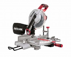 Miter Saw features motion-activated, 2-beam laser.