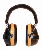 Earmuffs provide passive hearing protection.