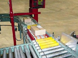 Checkweigher weighs 0-100 lb products with 0.1 lb accuracy.