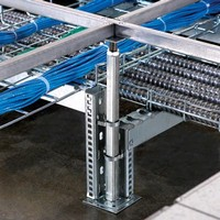 Cable Management System Organizes Power And Data Cables.