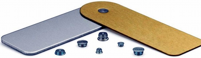 Self-Clinching Fasteners permanently join 2 metal sheets.