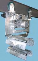 Motorized Festoon Trolley adapts to existing crane beams.