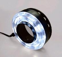 Polarized LED Ring Light minimizes glare.
